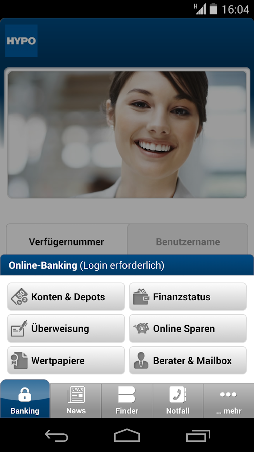 HYPO Landesbank- screenshot