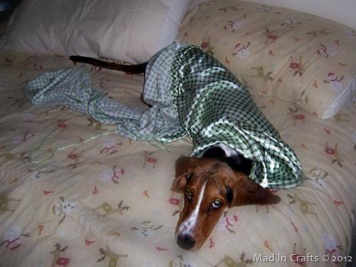 wearing pajamas