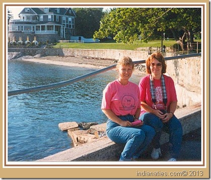 Nancy and MJ in Maine 1980s