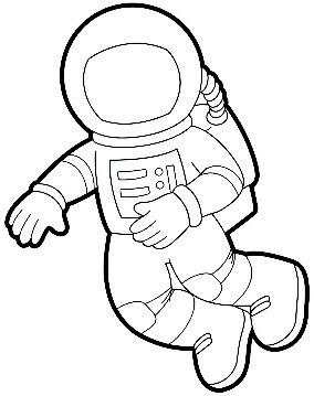 Astronaut Outline - Pics about space