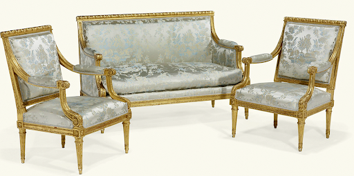 Louis XVI Chair U2013 Neoclassical Period Is Defined By Straight Lines And  Straight Legs With Rosettes Where The Legs Meet The Seat.