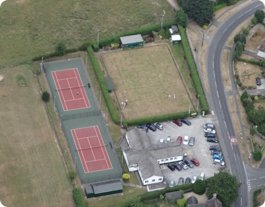 Aerial photo of Wistaston Jubilee Tennis Club