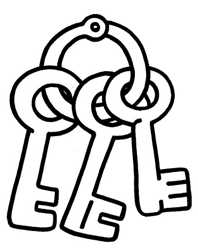 Keys coloring pages for Key coloring page