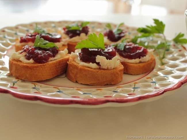 Cranberry Relish Crostini via homework  (7)