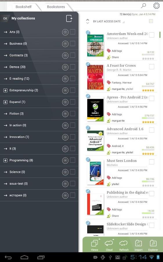 Mantano Reader Essentials- screenshot