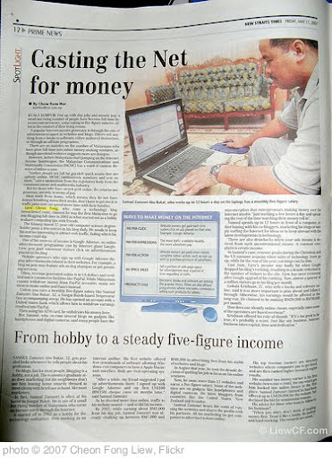 'NST Interview: Casting the Net for money' photo (c) 2007, Cheon Fong Liew - license: http://creativecommons.org/licenses/by-sa/2.0/