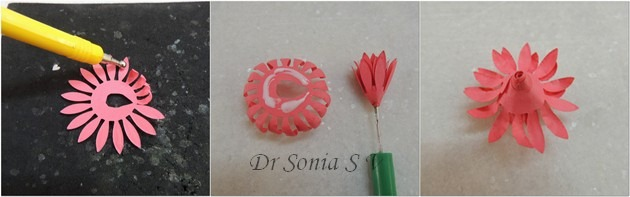Paper flower tutorial 10