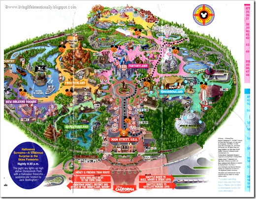 Disneyland Halloween Party 2012 MAP