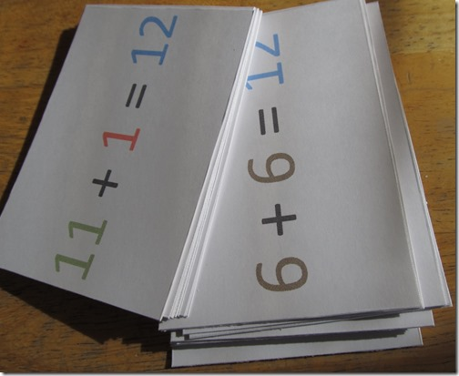 "full color flashcards printed in ""draft"" or ""fast"""