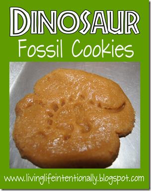 Dinosaur fossil snack for kids