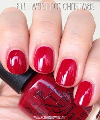 polish insomniac: OPI Mariah Carey Holiday Part One ♥ The Reds