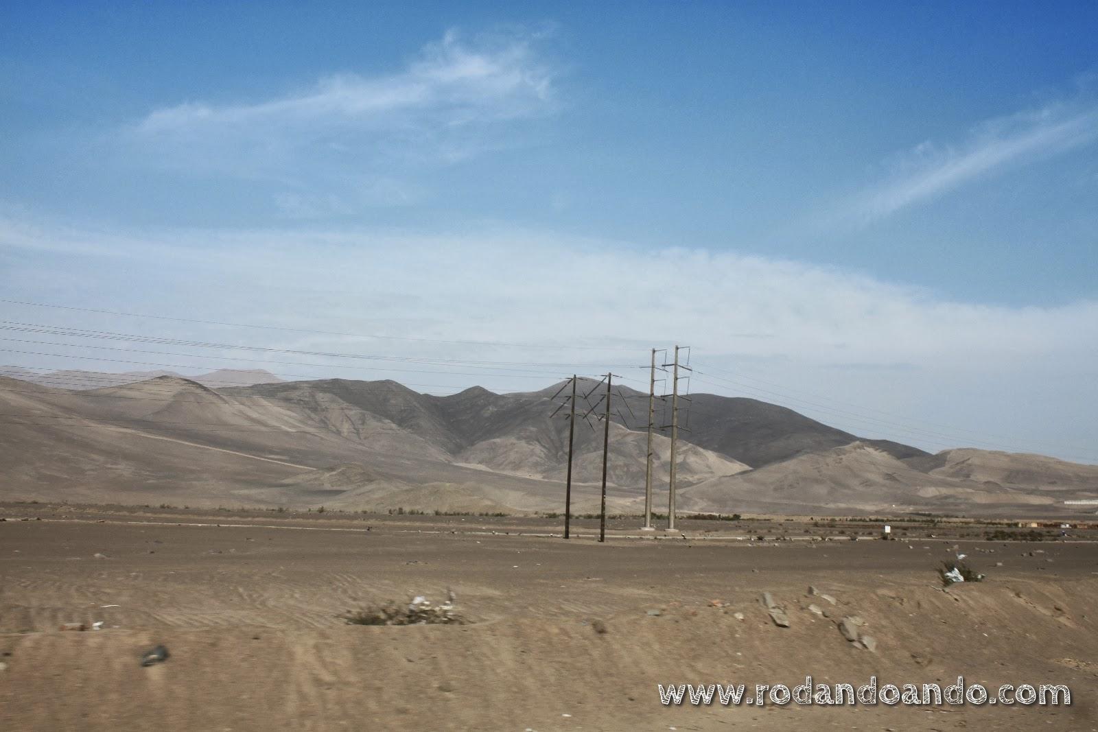 Alrededores de Lima: desértico