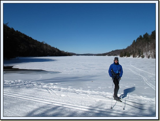 Sue at the eastern end of Lac Philippe - 8/2/12