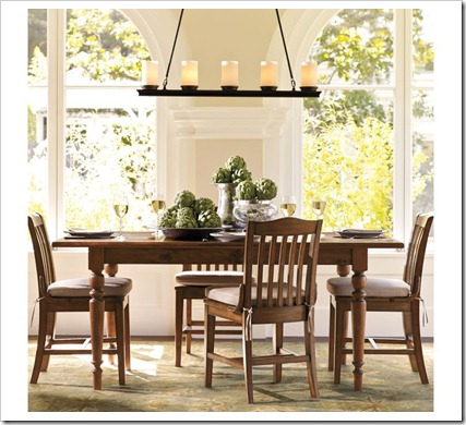 Veranda Linear Chandelier Via Pottery Barn Foyer Lighting Heights
