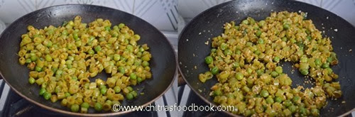 Beans peas poriyal step by step