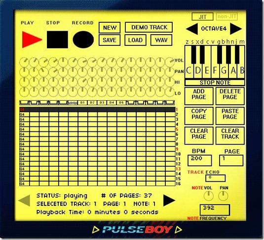 PulseBoy – Creiamo musica a 8 bit direttamente online (free