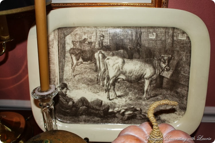 Cow picture platter