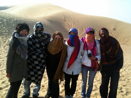 Grup turisti - desert safari in India