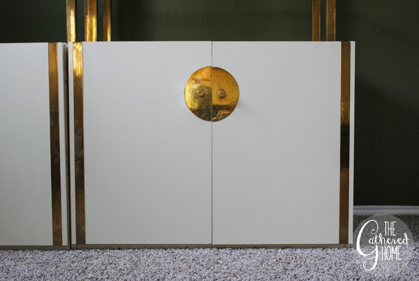 Brass and White Lacquer Etageres 10