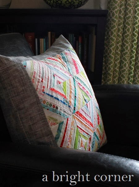 Selvage Pillow via A Bright Corner