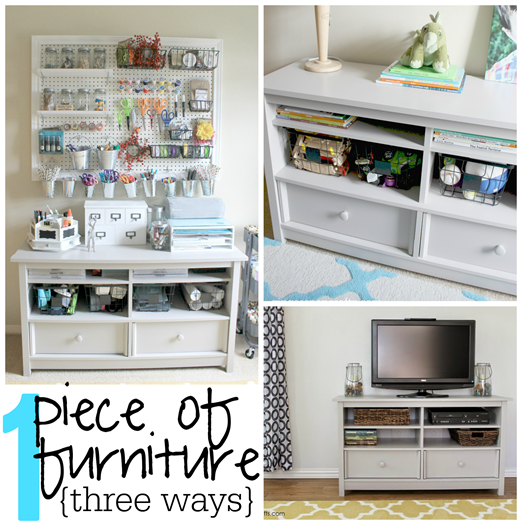 1 piece of furniture 3 ways at GingerSnapCrafts.com #sauder #ad