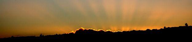 setting sun rays
