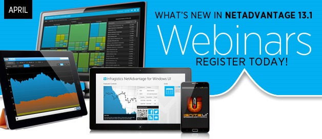 Infragistics announces The NetAdvantage Webinar series (April 23-25)