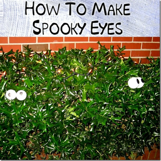 How To Make Spooky Eyes