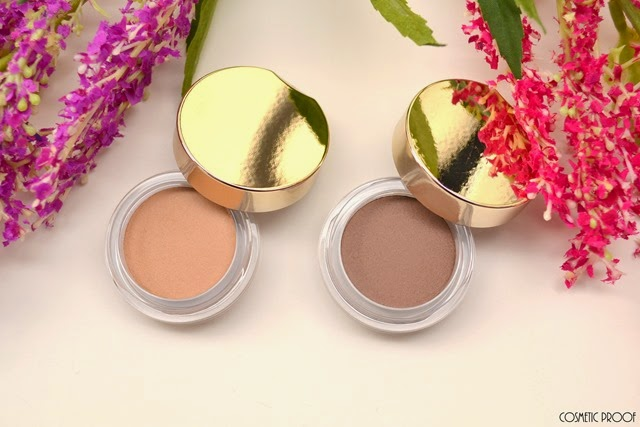 Clarins Ombre Matte Cream to Powder Eyeshadows 04 Rosewood Nude Beige Review Swatches