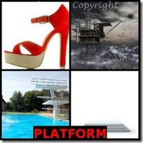 PLATFORM- 4 Pics 1 Word Answers 3 Letters