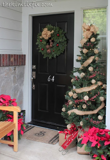 Attractive Christmas Tree By Front Door Amazing Ideas