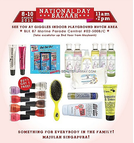 GlamoGirl SALE 2013 Bazaar offers Dirty Work bath body facial Skincare, Exposed nail polish, Kelly Edwards Organic Skincare, i love… cosmetics, Humphrey's Corner baby care Wet Brush shower gel, body wash, lotion, salt scrub, butter,
