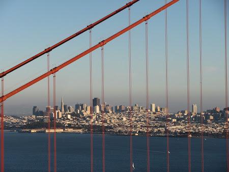 Imagini San Francisco: Centrul orasului in departare