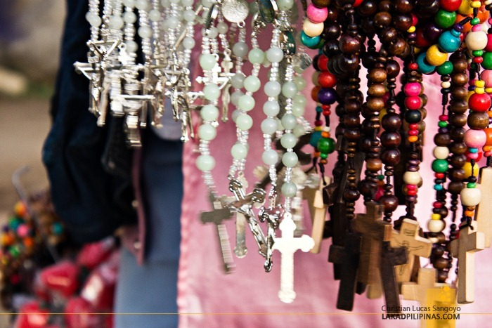 Colorful Rosaries being sold at Baguio City's Lourdes Grotto