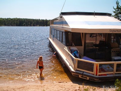 Paige and the houseboat 2006