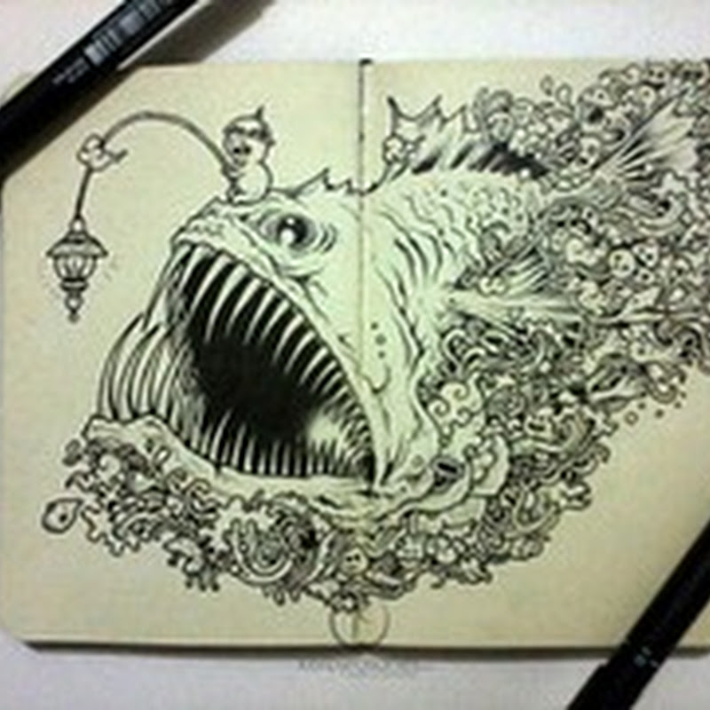 Spectacular Moleskine Doodles Explode with Energy by Kerby Rosanes.
