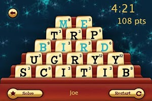 Screenshot of Dabble-Fast Thinking Word Game