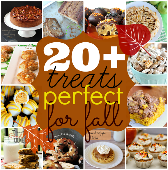 Over 20 treats perfect for #fall #recipes #linkparty #features GingerSnapCrafts.com