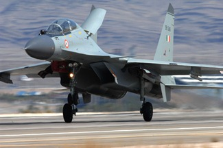 Sukhoi Su-30 MKI Fighter Aircraft flown by the Indian Air Force at the Red Flag Exercises in the U.S & Indradhanush Exercise with U.K.