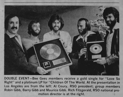 Bee Gees Gold and Platinum - 1977-01-22 Billboard