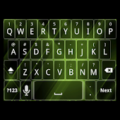 Green Tron Keyboard Skin