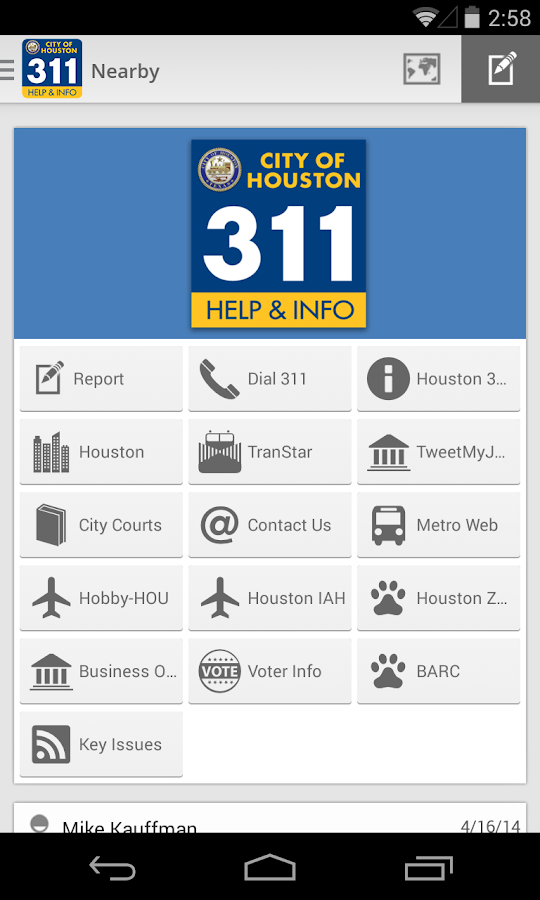Houston 311 - screenshot