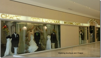 Wedding boutique and Chapel