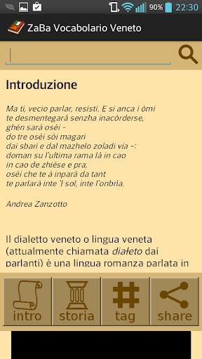 ZaBa Vocabolario Veneto