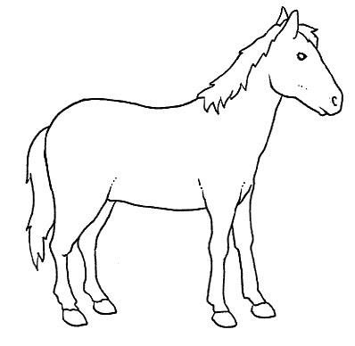 Paarden Met Veulen Kleurplaat Animales Dom 233 Sticos Para Pintar