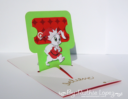 Inky Impressions - Christmas Card - Gift Card - Ruthie Lopez. 2