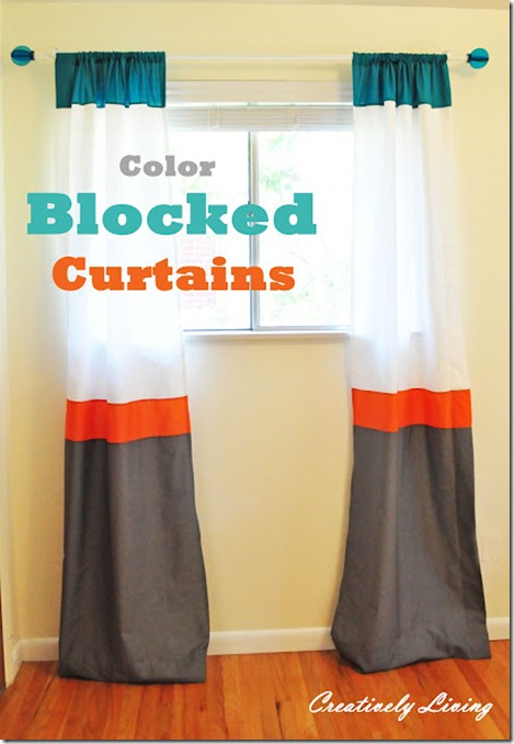 colorblock curtains