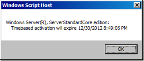 Check the Windows Server Core License Status and Extend the