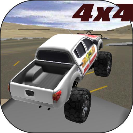 赛车游戏の4x4のモンスタートラックの3D LOGO-記事Game