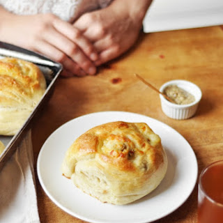 Gruyere and Green Olive Rolls.